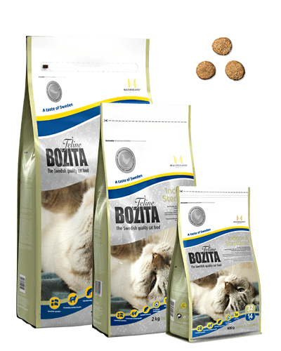 BOZITA FELINE INDOOR & STERILISED 2 KG.