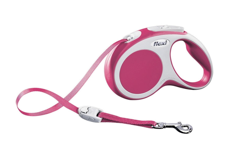 Flexi vario S met band - 5 meter roze