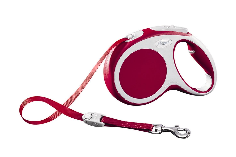 Flexi vario M met band - 5 meter rood (VERVALLEN)
