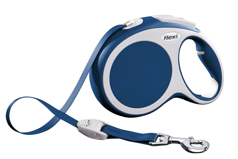 Flexi vario L met band - 8 meter blauw