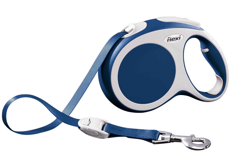 Flexi vario L met band - 5 meter blauw