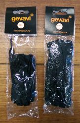 Gevavi veters plat zwart 120 cm