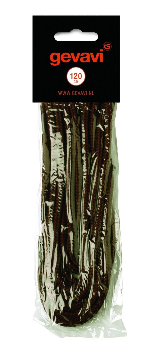 Gevavi veters rond zwart 120 cm