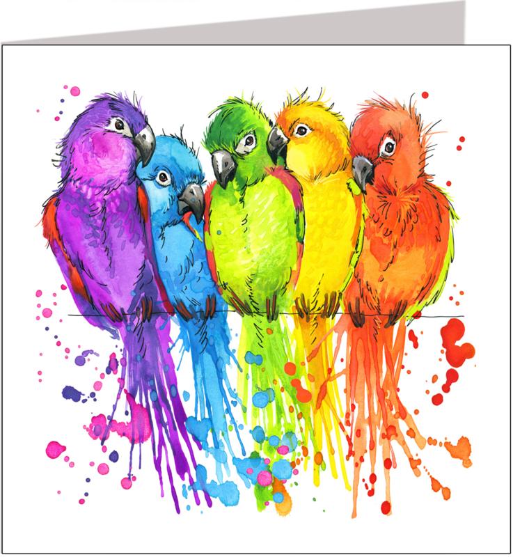 Wenskaart vogels