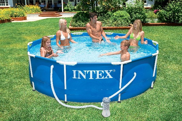 Intex 28231GS Frame pool 457x91cm (incl pomp)<br /><br />(€ 329,95)