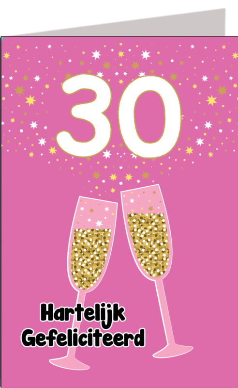 Leeftijdskaart 30 jaar Vrouw