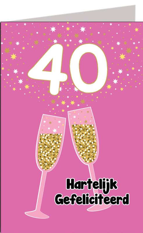 Leeftijdskaart 40 jaar Vrouw