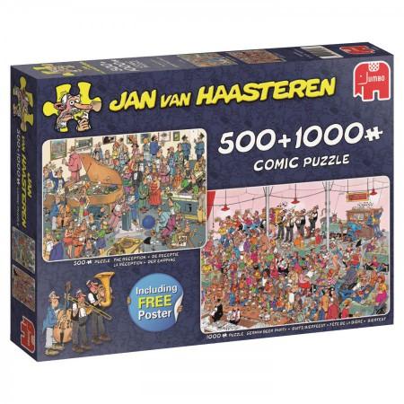 Puzzel Jan van Haasteren De receptie en Duits bierfeest 1000 stukjes en 500 stukjes (online uitverkocht)