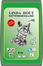 LINDA KATTENBAKVULLING HOUT 8 LTR.