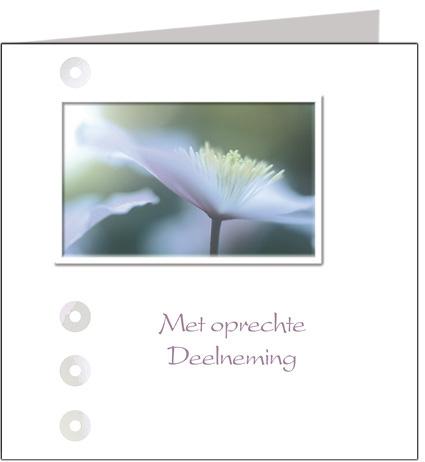 Condoleancekaart Met oprechte deelneming