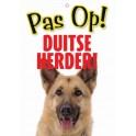 PG waakbord pas op Duitse Herder