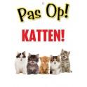 PG waakbord pas op Katten