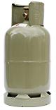 Vulling gas fles groen 5kg (AFHALEN)