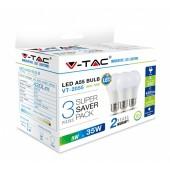 V-TAC 7267 A55 BOL E27 5W 4000K 3-PACK