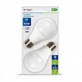V-TAC 7283 A60 FILAMENT BOL E27 4W LED 2700K 2-PAKC
