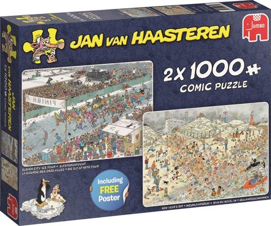 Puzzel Jan van Haasteren Elfstedentocht en de nieuwjaarsduik 2x1000 stukjes (online uitverkocht)