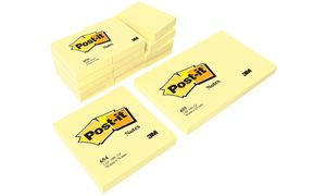 Post-it notities, 76 x 76 mm,   geel