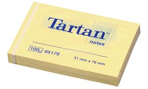 Tartan Notes Sticky Notes, 127 x76 mm, helder geel,