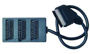 Shiverpeaks BASIC-S Scart       verdeler, kabel: 0,5 m, 3-voudig