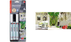 Marabu glas markers'Glas        Schilder 'DESIGN, 3er Blister