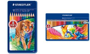 STAEDTLER kleurpotlood, 12er    metalen behuizing met dierlijke