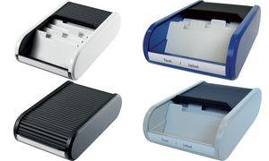 Helit Visitenkartenbox lineair, zwart
