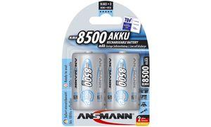 1x2 Ansmann maxe Accu NiMH Mono 8500 mAh duits