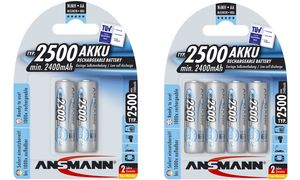 Ansmann AA Oplaadbare Batterijen- 2 stuks - 2500 mAh