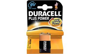 Duracell 9V Plus Power Duralock - 1 stuk