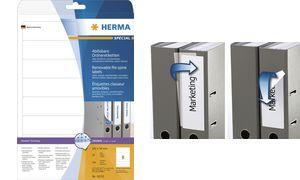 "HERMA Ordnerrcken-Etiketten ""Mofr Inkjet/Laser/Kopierer, blick"