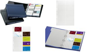 Durable Visitekaartje Ring      Binder VISIFIX, A4, antraciet
