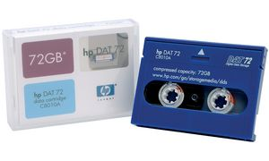 Hewlett Packard 4mm Data Tape   DAT 72 - DG 170 M, 170 m
