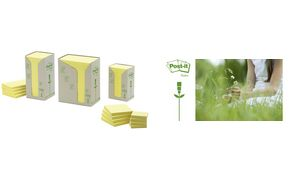 Post-it sticky notes Recycling, 38 x 51 mm, geel