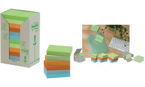 Post-it sticky notes Recycling, 127 x 76 mm, 6-kleuren