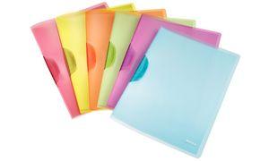 LEITZ Clip bindmiddel ColorClip Rainbow, A4, PP gesorteerd