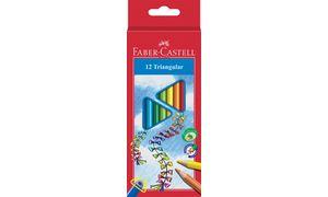 Kleurpotlood Faber Castell      driekant kartonnen etui à 12