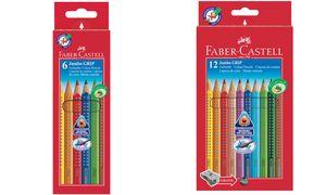 Kleurpotlood Faber Castell JumboGRIP etui à 6 stuks