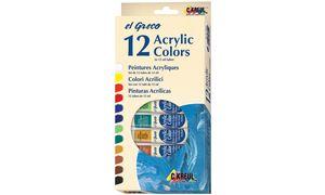 Kreul acrylverf el Greco, 12 ml,set van 12