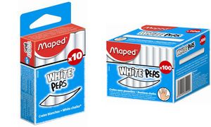 Maped krijt WHITE'PEPS, ronde,  witte