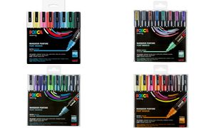 Uni Posca Stiften Warm Colors   PC5M 2.5 mm lijn