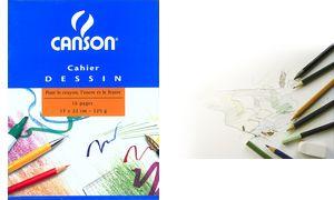 CANSON kleurboek, leeg, 125 g / m², 170 x 220 mm