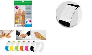 Sigel Event Wristbands'Super    'soft, scheurbestendig, zwart