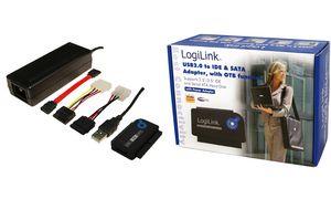 LogiLink USB 2.0 naar 2.5 + 3.5 Zoll IDE + SATA HDD OTB Adapter