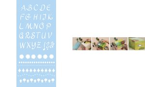 Marabu handtekening             card'Alphabet 2 ', 150 x 330 mm