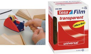 tesa film, transparante, 12 mm x33 m