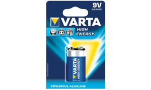Varta High Energy - Batterij 9V Alkalisch 550 mAh