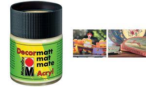 Marabu Acryl paint'Decormatt ', lavendel, 50 ml, in glas