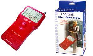 LogiLink kabel tester 5-in-1,   met afstandsbediening eenheid,
