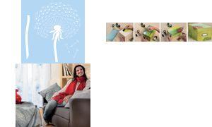 Marabu ontwerp template'Blowball', 330 x 330 mm