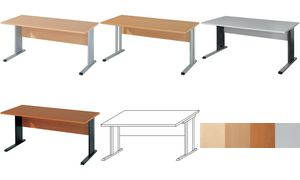 Wellemöbel desk'BÜRO COMBI + 2  ', (B) 1600 mm, Maple